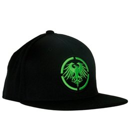 Never Summer Never Summer- Eagle Patch- Black and Lime- Hat