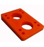 BOARDLife BOARDLife- Angled Wedge- Orange- 1/2 inch- Set of 2- Riser