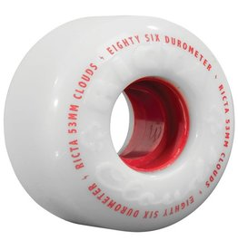 Ricta Ricta- Clouds- 57mm- 86a- White and Red- Wheels