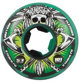 OJ OJ- Fletcher Tomahawk- 53mm- 101a- Green Black Swirl- Wheels