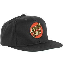 Santa Cruz Santa Cruz Skate- Classic Dot- Flat Brim- Black- Hats
