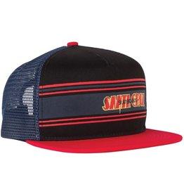 Santa Cruz Santa Cruz Skate- Space Rider Mesh- Flat Brim- Black and Red- Hats