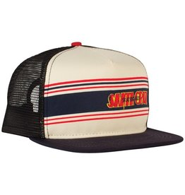 Santa Cruz Santa Cruz Skate- Space Rider Mesh- Flat Brim- Nat and Red- Hats