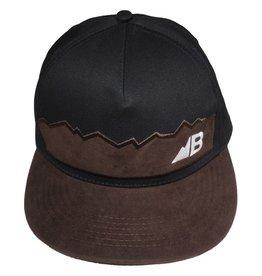 Belong Designs Belong- Suede Flat Brim- Black- Hat
