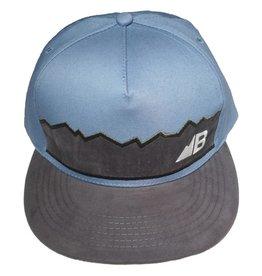 Belong Designs Belong- Suede Flat Brim- Blue- Hat