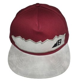 Belong Designs Belong- Suede Flat Brim- Maroon- Hat