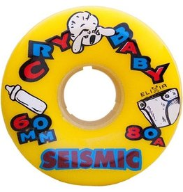 Seismic Seismic- Cry Baby- 60mm- 80a- Yellow- Wheel