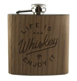 Arbor Arbor- Flask- Life is Whiskey- Walnut