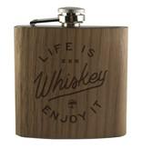 Arbor Arbor- Flask- Life is Whiskey- Walnut