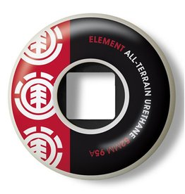 Element Element- Section- 52mm- 95a- White with Black and Red- Wheels