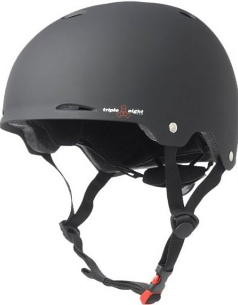 Triple Eight Triple Eight- Gotham- Black Rubber- Dual Certified Helmet with EPS Liner