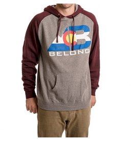 Belong Designs Belong- Colorado Hoodie- Maroon