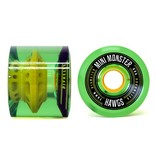 Landyachtz Landyachtz- Mini Monster Hawgs- 70mm- 80a- Clear Green- 2014- Wheel