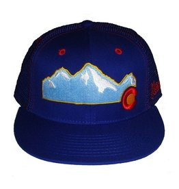 Aksels Aksels- Colorado Mountain- Flat Brim- Royal- Hat