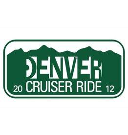 Denver Cruiser Ride- License Plate- 2012