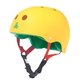 Triple Eight Triple Eight- Brainsaver- Rasta Yellow Rubber- Helmet