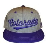 Aksels Aksels- Colorado Cursive- Flat Brim- Purple- Hat