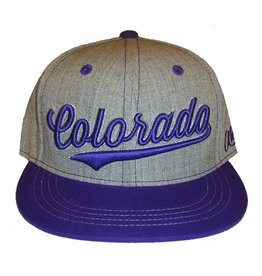 Aksels Aksels- Colorado Cursive- Flat Brim- Purple- Hat