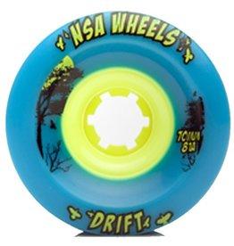 Never Summer Never Summer- Drift- Wheel- 70mm- Cyan, 81a