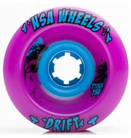 Never Summer Never Summer- Drift- Wheel- 77mm, Purple, 75a