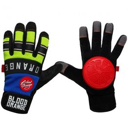 Blood Orange Blood Orange- Knuckles- Blue and Neon- Slide Gloves