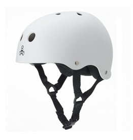 Triple Eight Triple Eight- Brainsaver- The Heed- Helmet- White, XXLrg