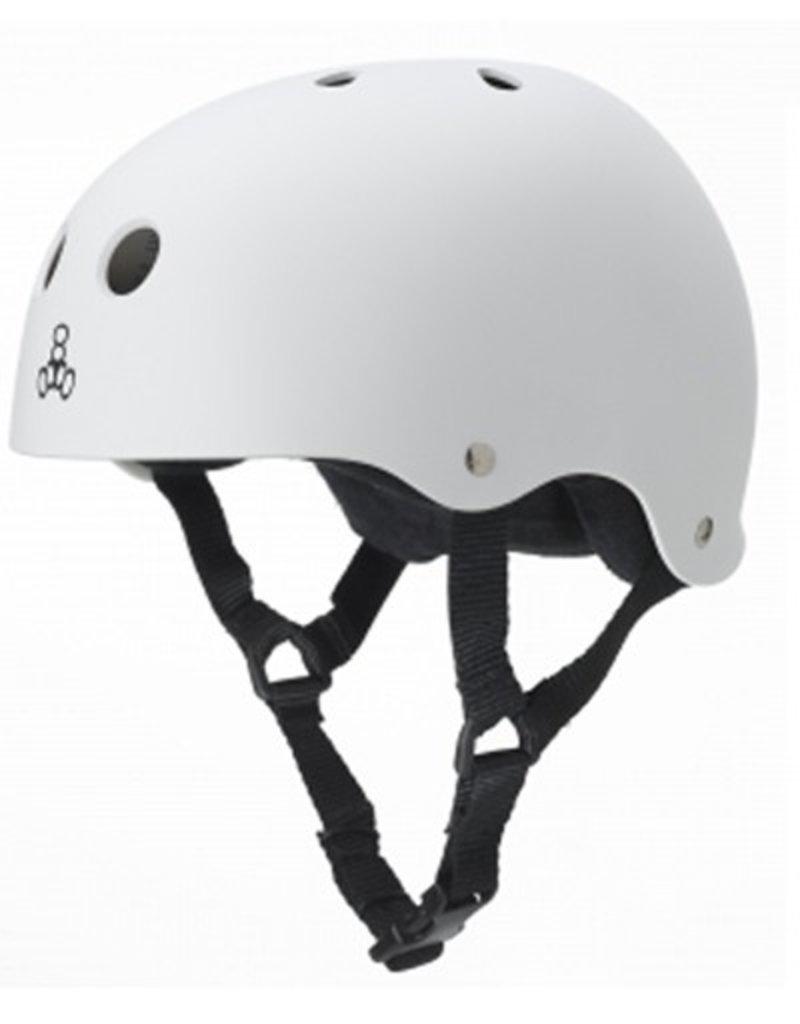 Triple Eight Triple Eight- Brainsaver- The Heed- Helmet- White, XXLrg
