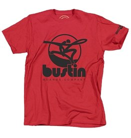 Bustin Bustin- Oversized Logo- Red- T-Shirt