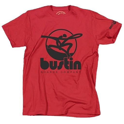 Bustin Bustin- Oversized Logo- Red- T-Shirt