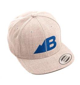 Belong Designs Belong- Belong- Hat- Flat Brim- Gray and Blue