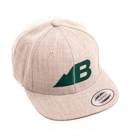 Belong Designs Belong- Belong- Hat- Flat Brim- Gray and Green