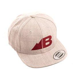 Belong Designs Belong- Belong- Hat- Flat Brim- Gray and Maroon