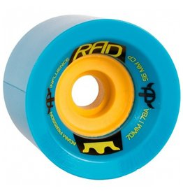 RAD RAD- Influence- 70mm- 78a- Blue with Yellow Core- Wheels