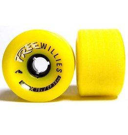 Free Wheels Free- Willies- Gold- 69mm- 78a- Wheels