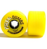 Free Wheels Free- Dumbs- Gold- 64mm- 78a- Wheels
