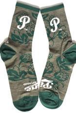 Pine Brand- Hops- Green and White- Socks