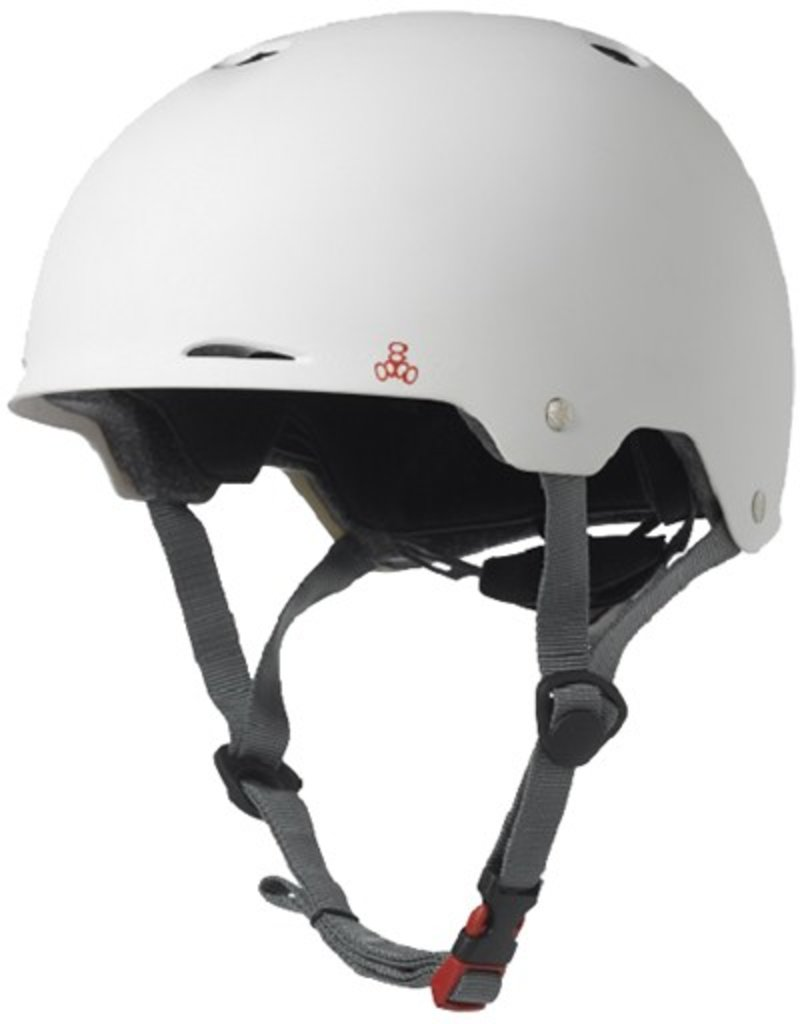 Triple Eight Triple Eight- Gotham- Matte White Rubber- Dual Certified Helmet with EPS Liner