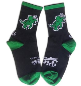 Pine Brand- Pinosaur- Black and Green- Socks