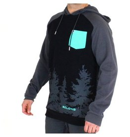 Belong Designs Belong- Smokey Forest- Grey, Black and Aqua