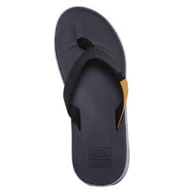 Reef Reef- Slammed Rover- Men's Flip Flop- Black and Yellow