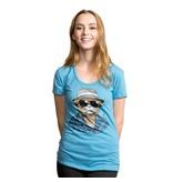 Headline Headline- Hunter S. Tomcat- Light Blue- Women's- T-Shirt