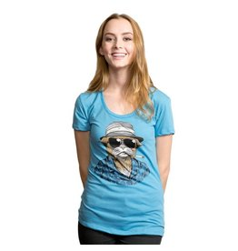 Headline Headline- Hunter S. Tomcat- Light Blue- Women's- T-Shirt
