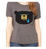 Ames Bros Ames Bros- Bad News Bear- Tri-Blend Relaxed Neck- Grey- Women's T-Shirt