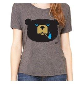 Ames Bros Ames Bros- Bad News Bear- Tri-Blend Relaxed Neck- Grey- Women's T-Shirt