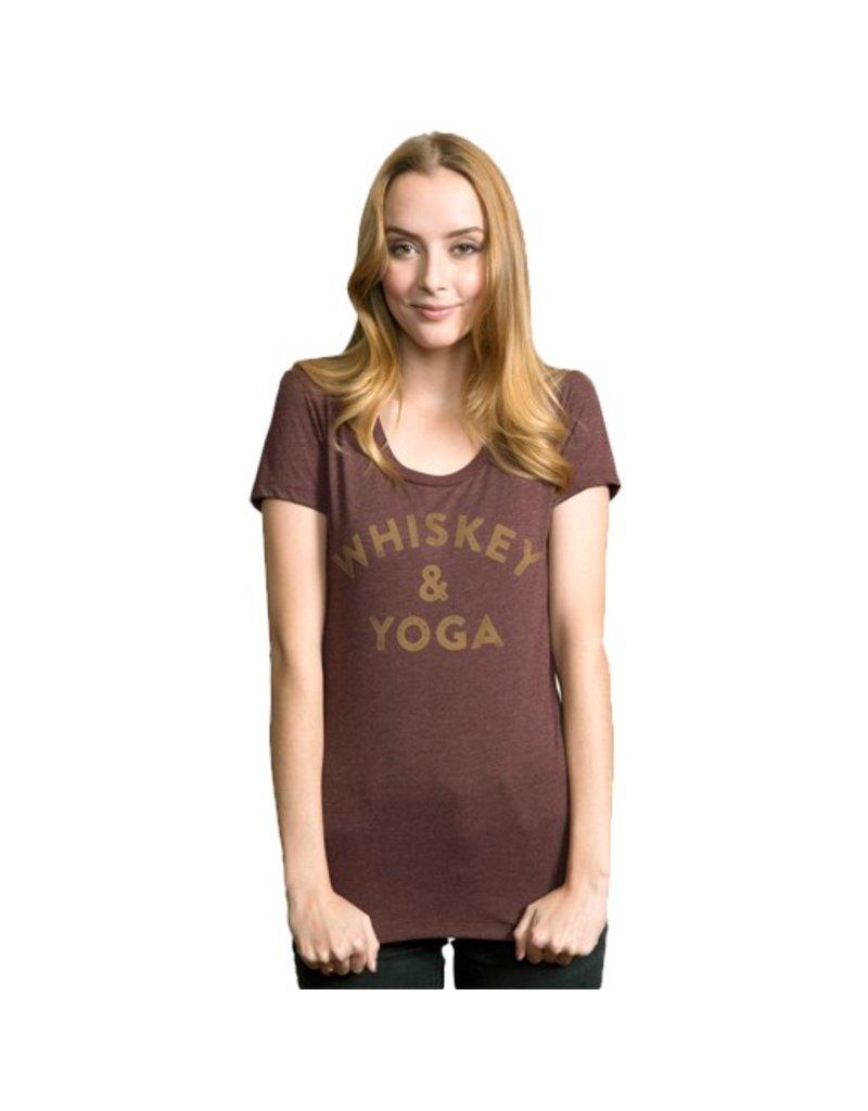 Headline Headline- Whiskey & Yoga- Maroon- Women's- T-Shirt