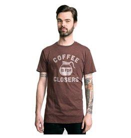 Headline Headline- Coffee is for Closers- Brown- T-Shirt