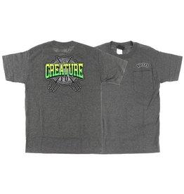 Creature Creature- Flunkee Pocket- Charcoal- T-Shirt