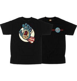 Santa Cruz Santa Cruz Skate- Marvel Captain America Hand- Black- T-Shirt