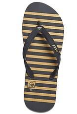 Reef Reef- Switchfoot Prints- Men's Flip Flop- Black, Gold, and Stripe