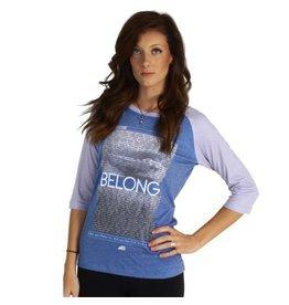 Belong Designs Belong- Raglan- Inspire- Navy- Women's T-Shirt